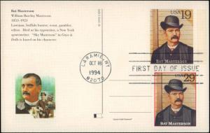United States, Wyoming, First Day Cover, United States Government Postal Cards