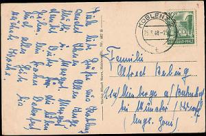 1948 GERMANY RHEINLAND - PFALZ SINGLE ON MULTI CITY VIEW ...