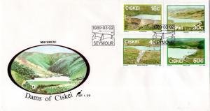 Ciskei - 1989 Dams FDC SG 145-148