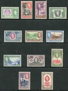 British Honduras SG150/61 1938-47 KGVI Set of 12 Wmk Mult Script CA M/M