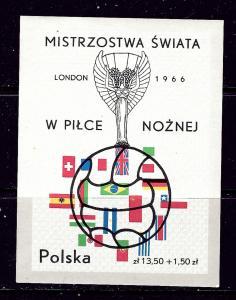 Poland B109 MNH 1966 Soccer S/S