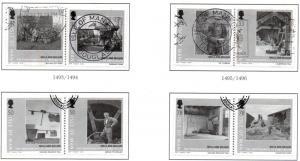 Isle of Man Sc 1303a-6b Mills & Millers stamp set used
