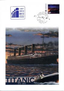 [96808] Micronesia 1912 2012 100 years RMS Titanic Special Cachet Large Cover