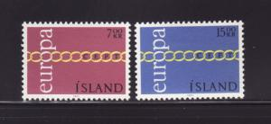 Iceland 429-430 Set MH Europa (A)