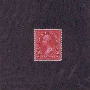 SC# 249 UNUSED ORIGINAL GUM MNH 2c WASHINGTON, 1894 PSAG CERT GRADED XF SUP 95