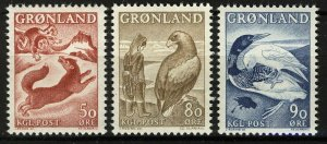 Greenland 1966-69, Fauna, Legends of Greenland, 3v VF MNH
