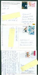 Denmark. 3 Christmas Card With Christmas Seal. 2007-2008-2010. Postal Used.
