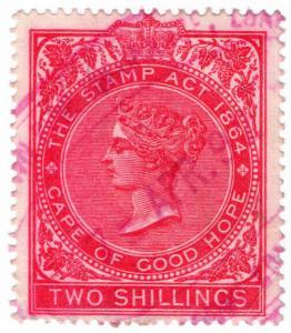 (I.B) Cape of Good Hope Revenue : Duty Stamp 2/-