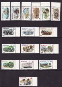 Bahamas-Sc#464-79-unused NH set-definitives-Ships-Columbus-1