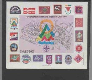 CHILE #1270A  1998 WORLD SCOUT JAMBOREE      MINT VF NH  O.G  S/S