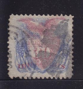 121 F-VF used neat cancel with nice color cv $ 425 ! see pic !
