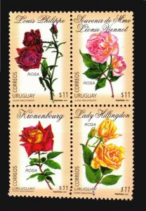 Rose Varieties flower plants flora URUGUAY Sc#1915 MNH STAMPS cv$12 KRONENBOURG
