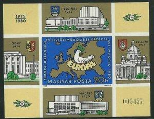 Hungary - Scott 2666 var Souvenir Sheet VF MNH