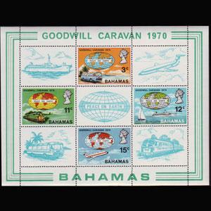 BAHAMAS 1970 - Scott# 306a S/S Travel NH