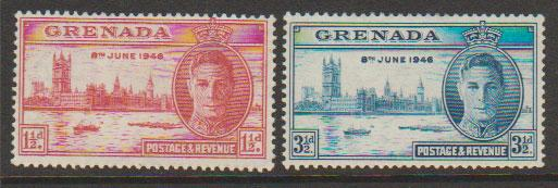 Grenada  George VI SG 164 - 165  mounted mint set Victory