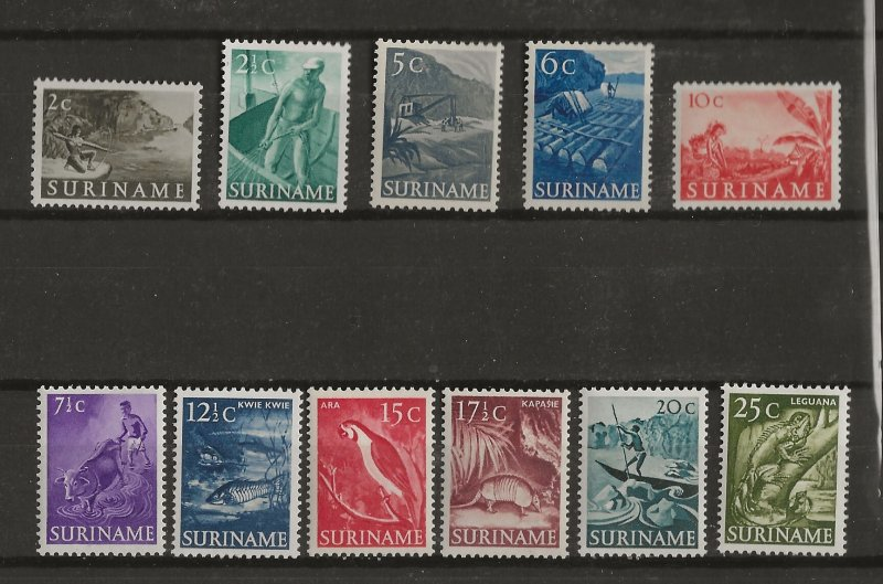 Suriname 1953 Scenes set MH