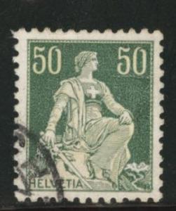Switzerland Scott 139a used from 1907-1925 set Granite Paper