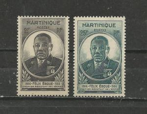 Martinique # 196-197 Unused HR