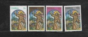 ZAMBIA #228-231 1980 CHRISTMAS MINT VF NH O.G aa