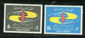 SAUDI ARABIA SCOTT# 639-640 MINT NEVER HINGED AS SHOWN