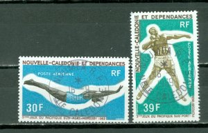 NEW CALEDONIA  AIR-SPORTS  #C66-67...USED NO THINS...$5.00