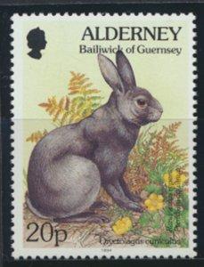 GB Alderney  SG A71 MNH   20p Rabbit  1994 SC# 81 See scan