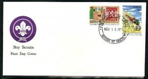 St. Vincent, Grenadines. Scott cat. 801-802. Scout Jamboree. First day cover.