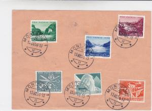 switzerland 1956 multi cancel  official stamps card  r19691