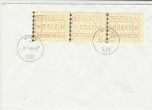 Austria 1988 WIEN cancel machine label  stamps cover ref 21835