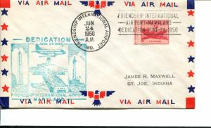 USA SC# C33 Fiendship Int'l Airport Dedication Patriotic Cover