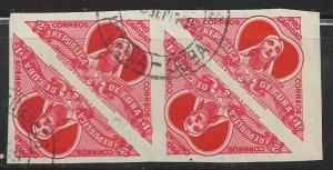 Cuba #B4 Semi Postal Imperf Blk of 4 used