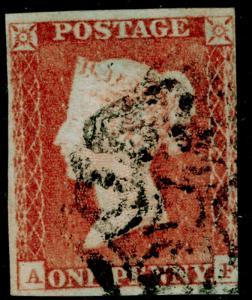 SG8, 1d red-brown, USED. Cat £55. BLACK MX. AF