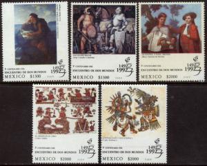 MEXICO 1726-1730 GRANADA'92 PHILATELIC EXHIBITION. MNH