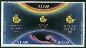 MEXICO 1699, Total Solar Eclipse - Triptich MINT, NH. VF..