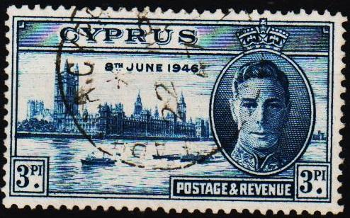 Cyprus.1946 3pi S.G.165 Fine Used
