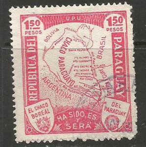 PARAGUAY 324 VFU MAP J342-1