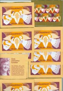 Denmark.  10 Booklet 1988  Christmas Seals Mnh. Angels Christmas Star