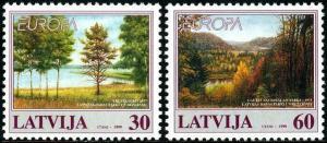 HERRICKSTAMP LATVIA Sc.# 484-85 Europa 1999