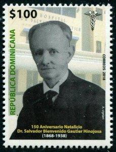 HERRICKSTAMP NEW ISSUES DOMINICAN REPUBLIC Sc.# 1640 Dr. Salvador B. Gautier