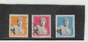 Switzerland  Scott#  290-292  Used  (1944 Olympic Jubilee)