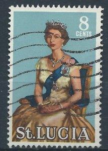 St Lucia 1964 - 8c Elizabeth II - SG202 used