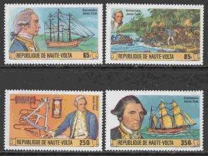 Burkina Faso (Upper Volta) #474-77 F-VF Mint NH ** Captain Cook, ship