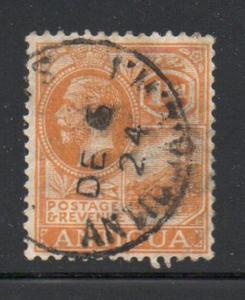 Antigua Sc 50 1923 2 1/2 d orange George V  stamp used