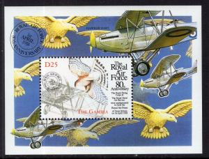 Gambia 2077 Royal Air Force Souvenir Sheet MNH VF