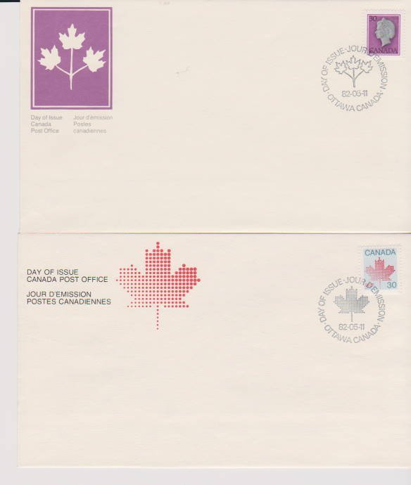 CANADA FDC FROM CANADA POST OFFICE STAMPS #923,924 LOT#M139