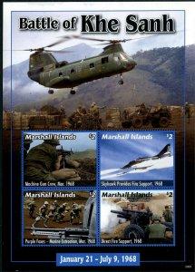 HERRICKSTAMP NEW ISSUES MARSHALL ISLANDS Vietnam War Sheetlet I