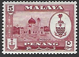 Malaya Penang #59 Mint Hinged Single Stamp