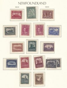 NEWFOUNDLAND # 145-160 VF-MNH/MLH/MH WITH SURCHARGES CAT VALUE $165