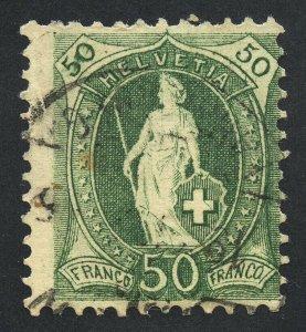 01882 Switzerland Scott #96a 50c, used, perf 11.5x12, SCV = $20