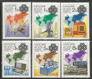 HUNGARY 2806-2811  MNH,  WORLD COMMUNICATIONS YEAR